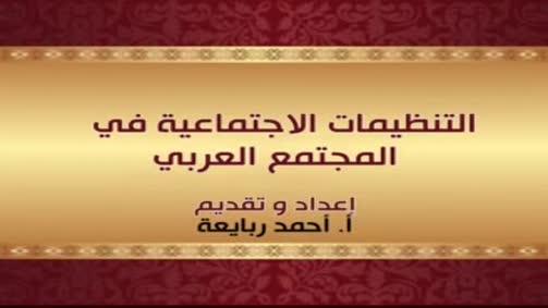 التنظيمات الاجتماعية في المجتمع العربي