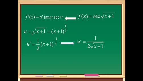 حل أسئلة حول مشتقة الاقترانات المثلثية
