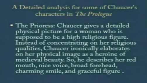 "The character of the prioress in ""The Prologue"""
