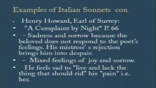 Henry Howard, Earl of Surrey: A Complaint by Night""
