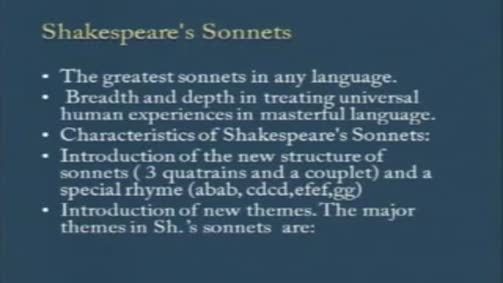 Shakespeare's Sonnets: Characteristics and Themes