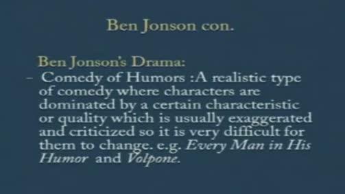 "Ben Jonson's Drama: ""Volpone"""