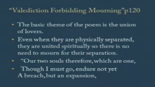 "John Donne: ""A Valediction: Forbidding Mourning"""