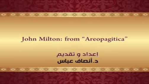"""John Milton:from """" Areopagitica"""""""