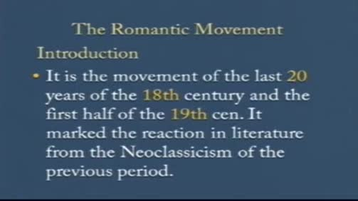 An Introduction to the Romantic Movement.
