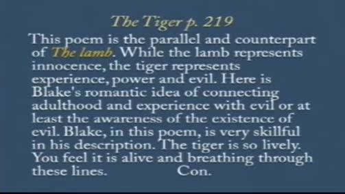 "William Blake: ""The Tiger"""