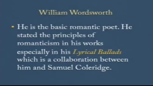 Wordsworth and his poetry