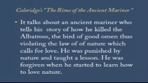 "Samuel Taylor Coleridge: ""The Rime of the Ancient Mariner"""