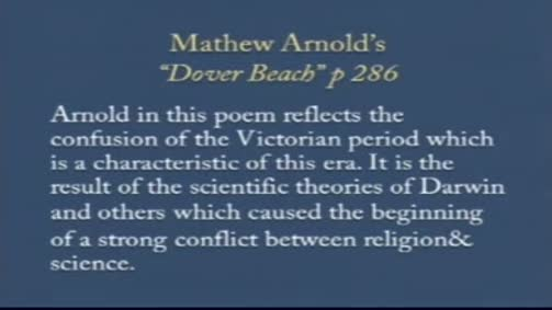 "Mathew Arnold ""Dover Beach"""