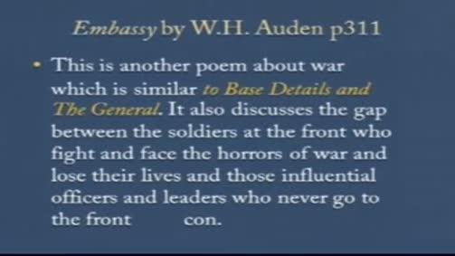 """W. H. Auden:""""Embassy"""""""