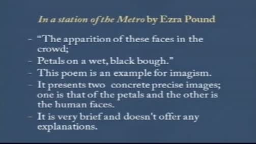 "Ezra Pound:""In a Station of the Metro"""