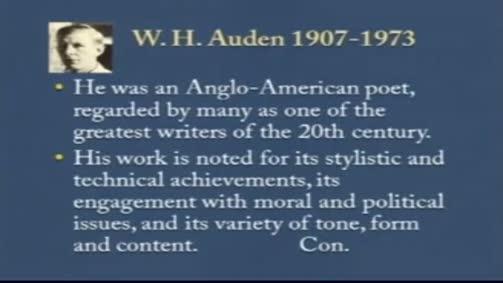 """W .H. Auden:""""Musee des Beaux Arts"""""""
