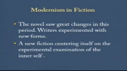 Modernism in Fiction