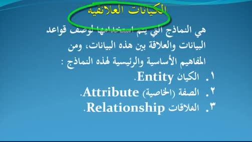 الكيانات Entities