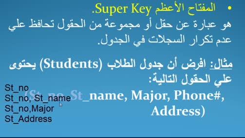 المفاتيح العلائقية