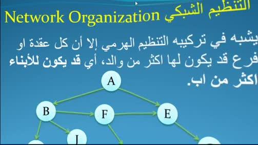 التنظيمات الرئيسة لقواعد البيانات