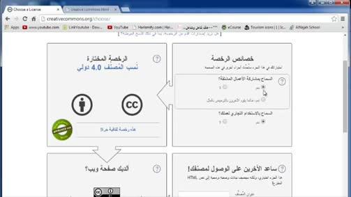 تراخيص التأليف والنشر Creative Commons-CC