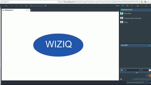 تقنية الصف الافتراضي WizIQ