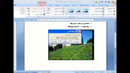 برنامج Word 2007 - الصور - إدراج صورة من ملف