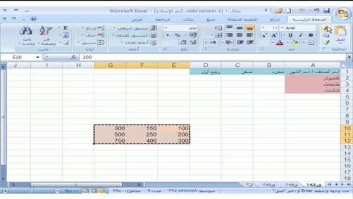برنامج Excel 2007 - التعامل مع المصنّف - القص، النسخ واللصق