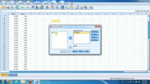 الجانب العملي للإحصاء التطبيقي-تحليل التباين الأحادي-spss