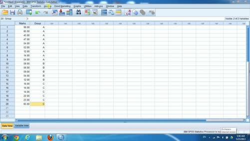 الجانب العملي للإحصاء التطبيقي-اختبار كروسكال ولاس اللامعلمي-spss
